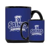 Full Color Black Mug 15oz-Our Lady of the Lake University Athletics - Offical Logo