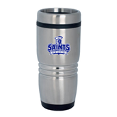 Rolling Ridges Silver Stainless Tumbler-Our Lady of the Lake University Athletics - Offical Logo
