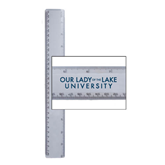 12 Inch White Plastic Ruler-OUr Lady of the Lake University Flat