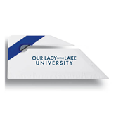 Angled Blue Stripe Letter Opener-OUr Lady of the Lake University Flat
