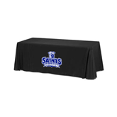 Black 6 foot Table Throw-Our Lady of the Lake University Athletics - Offical Logo