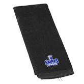 Black Golf Towel-Our Lady of the Lake University Athletics - Offical Logo