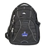 High Sierra Swerve Black Compu Backpack-Our Lady of the Lake University Athletics - Offical Logo