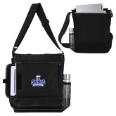 Impact Vertical Black Computer Messenger Bag-Our Lady of the Lake University Athletics - Offical Logo