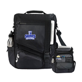 Momentum Black Computer Messenger Bag-Our Lady of the Lake University Athletics - Offical Logo