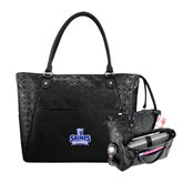 Sophia Checkpoint Friendly Black Compu Tote-Our Lady of the Lake University Athletics - Offical Logo