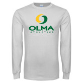 White Long Sleeve T Shirt-OLMA  Athletics
