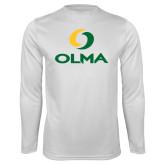 Performance White Longsleeve Shirt-Primary  Athletic Mark