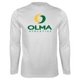 Performance White Longsleeve Shirt-OLMA  Athletics