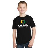 Youth Black T Shirt-OLMA  Athletics