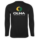 Performance Black Longsleeve Shirt-OLMA  Athletics