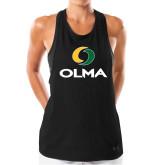 Ladies Under Armour Black Pinhole Tank-Primary  Athletic Mark