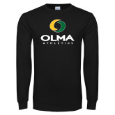 Black Long Sleeve T Shirt-OLMA  Athletics