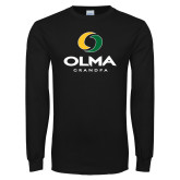 Black Long Sleeve T Shirt-Stacked Grandpa