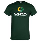 Dark Green T Shirt-Stacked Field Hockey