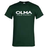 Dark Green T Shirt-Field Hockey