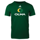 Adidas Dark Green Logo T Shirt-Primary  Athletic Mark