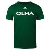 Adidas Dark Green Logo T Shirt-Athletic Wordmark