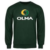 Dark Green Fleece Crew-Primary  Athletic Mark