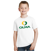 Youth White T Shirt-Primary  Athletic Mark