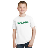 Youth White T Shirt-Athletic Wordmark