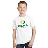 Youth White T Shirt-OLMA  Athletics