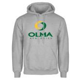 Grey Fleece Hoodie-OLMA  Athletics