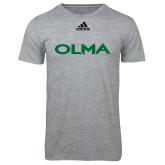 Adidas Sport Grey Logo T Shirt-Athletic Wordmark