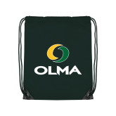 Dark Green Drawstring Backpack-Primary  Athletic Mark
