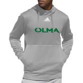 Adidas Grey Team Issue Hoodie-Athletic Wordmark
