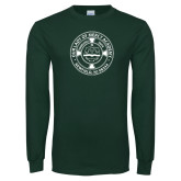 Dark Green Long Sleeve T Shirt-School Seal