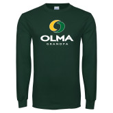 Dark Green Long Sleeve T Shirt-Stacked Grandpa