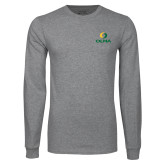 Grey Long Sleeve T Shirt-Primary  Athletic Mark