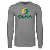 Grey Long Sleeve T Shirt-OLMA  Athletics