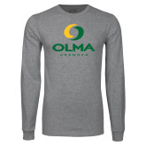 Grey Long Sleeve T Shirt-Stacked Grandpa