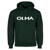 Dark Green Fleece Hood-Athletic Wordmark