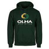 Dark Green Fleece Hood-OLMA  Athletics