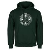 Dark Green Fleece Hood-School Seal
