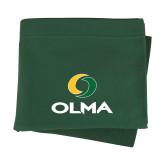 Dark Green Sweatshirt Blanket-Primary  Athletic Mark