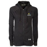 Ladies Under Armour Black Varsity Full Zip Hoodie-Primary  Athletic Mark