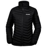 Columbia Powder Lite Ladies Black Jacket-Athletic Wordmark