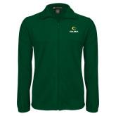 Fleece Full Zip Dark Green Jacket-Primary  Athletic Mark