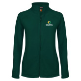 Ladies Fleece Full Zip Dark Green Jacket-Primary  Athletic Mark