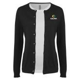 Ladies Black Cardigan-Primary  Athletic Mark