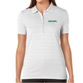 Ladies Callaway Opti Vent White Polo-Athletic Wordmark