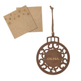 Wood Holiday Ball Ornament-Athletic Wordmark Engraved