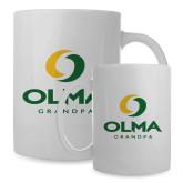 Full Color White Mug 15oz-Stacked Grandpa