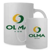 Mom Full Color White Mug 15oz-Stacked Mom