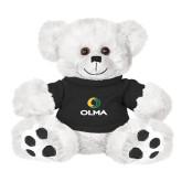 Plush Big Paw 8 1/2 inch White Bear w/Black Shirt-Primary  Athletic Mark
