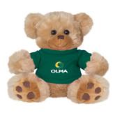 Plush Big Paw 8 1/2 inch Brown Bear w/Dark Green Shirt-Primary  Athletic Mark